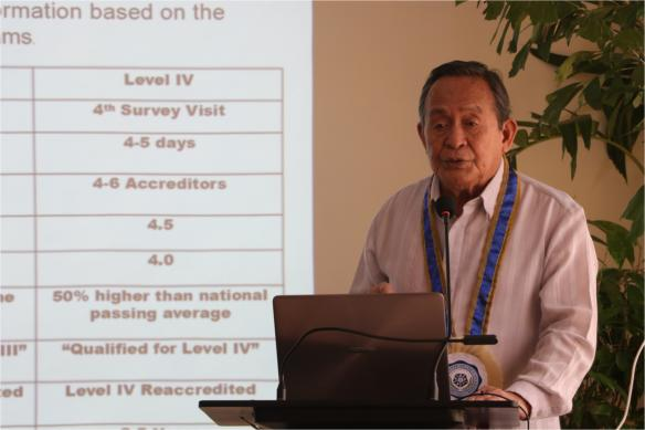 Dr. Corpus visits SLSU for AACCUP Consultative Meeting
